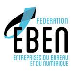 Logo de la fédération EBEN, des entreprises du bureau et du numérique