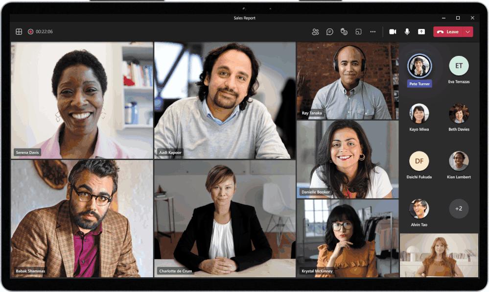 Microsoft Teams Vue dynamique