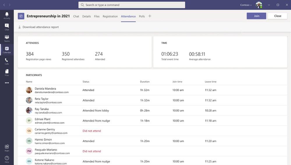 Microsoft Teams Rapport Webinaire