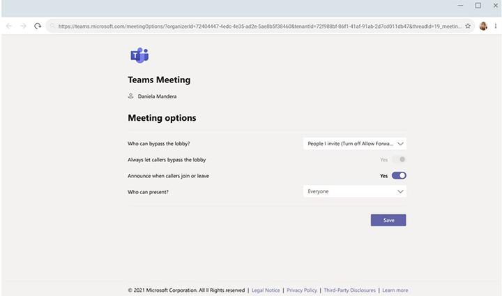 Invitations dans Microsoft Teams