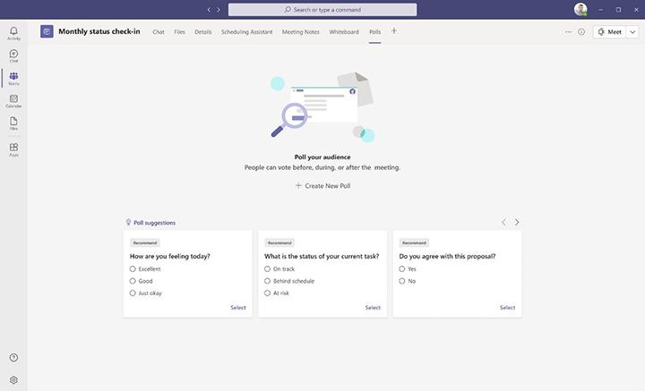 Sondage dans Microsoft Teams