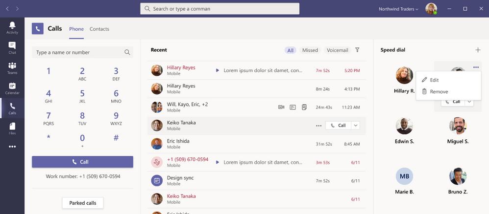 Nouvelles expériences d'appel sur Microsoft Teams