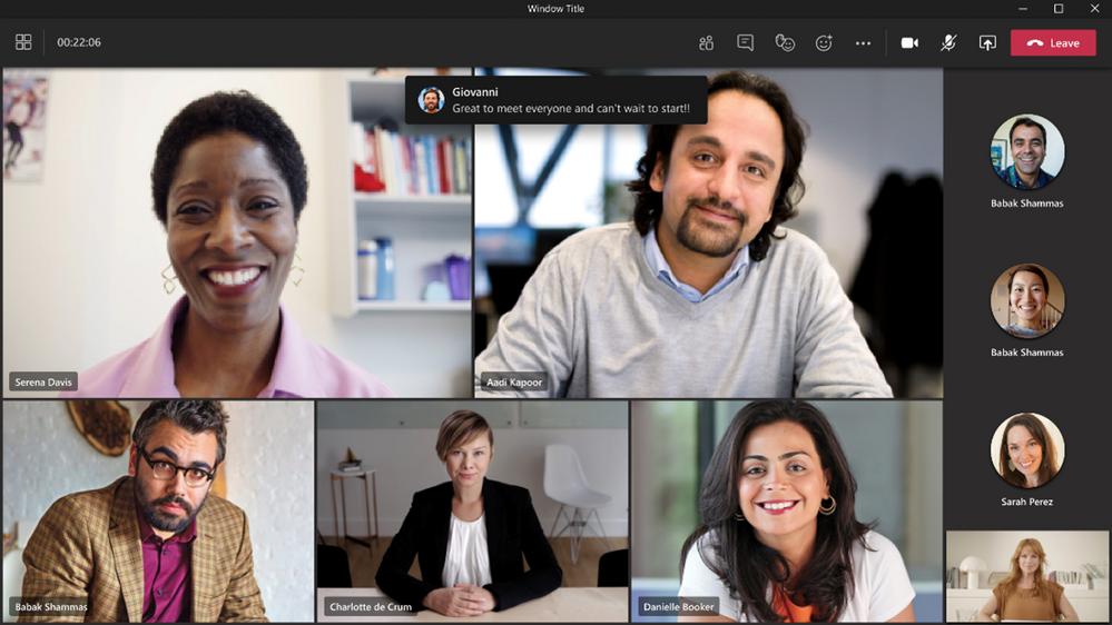 Bulles de discussion dans Microsoft Teams