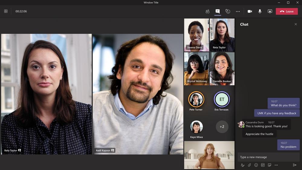 Mettre en avant jusqu'à 7 participants dans Microsoft Teams