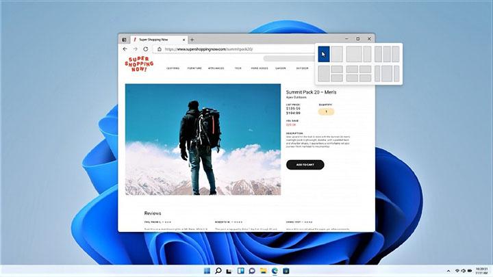 Snap Layout dans Windows 11