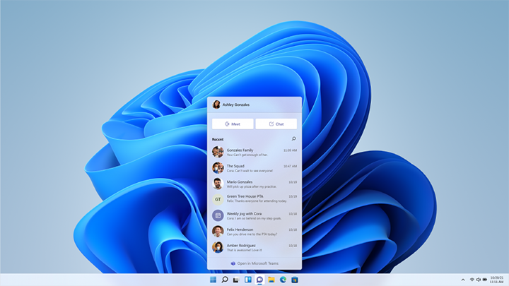 Microsoft Teams dans Windows 11