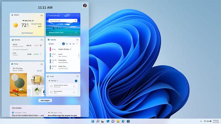 Widget d'information dans Windows 11